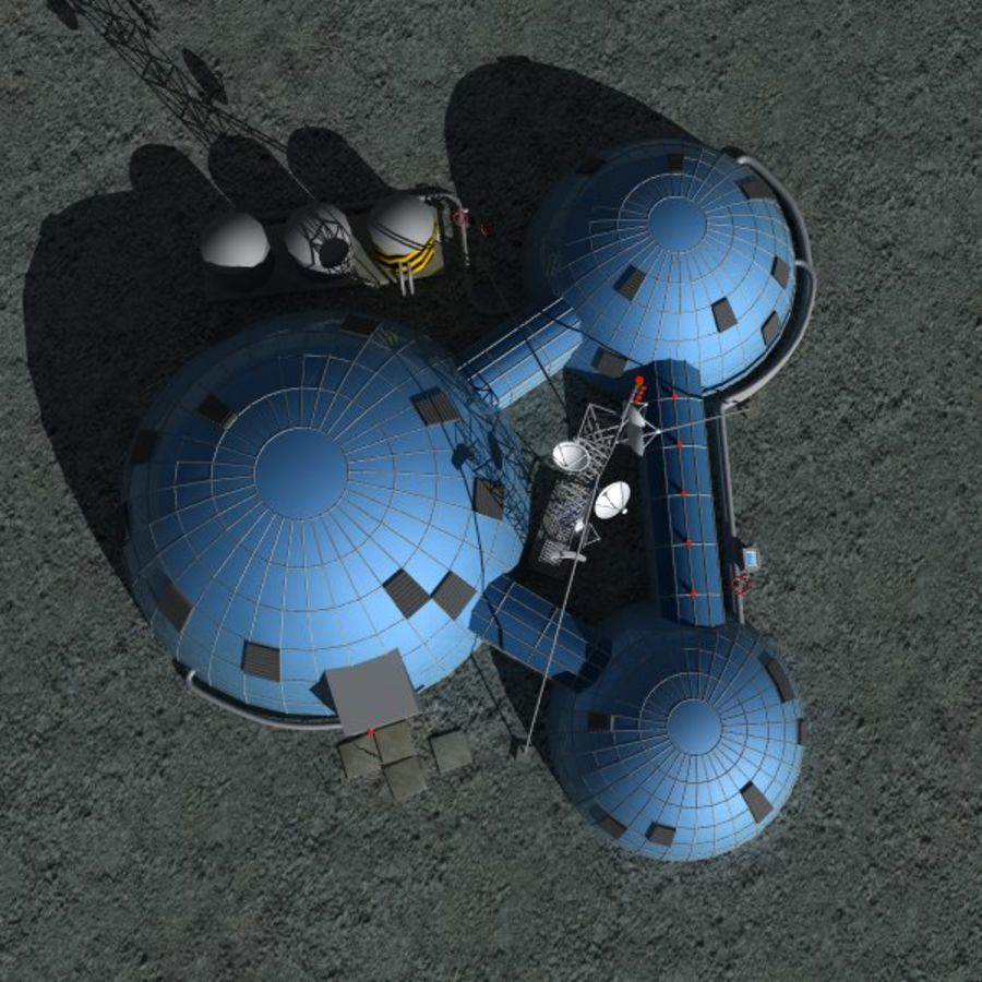 Space station royalty-free 3d model - Preview no. 4