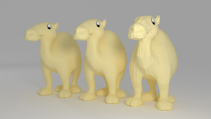 Camel_Cartoon royalty-free 3d model - Preview no. 1