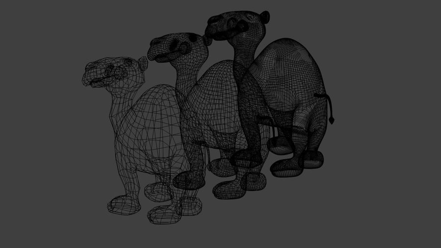 Camel_Cartoon royalty-free 3d model - Preview no. 7