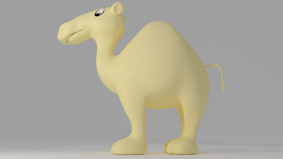 Camel_Cartoon royalty-free 3d model - Preview no. 6
