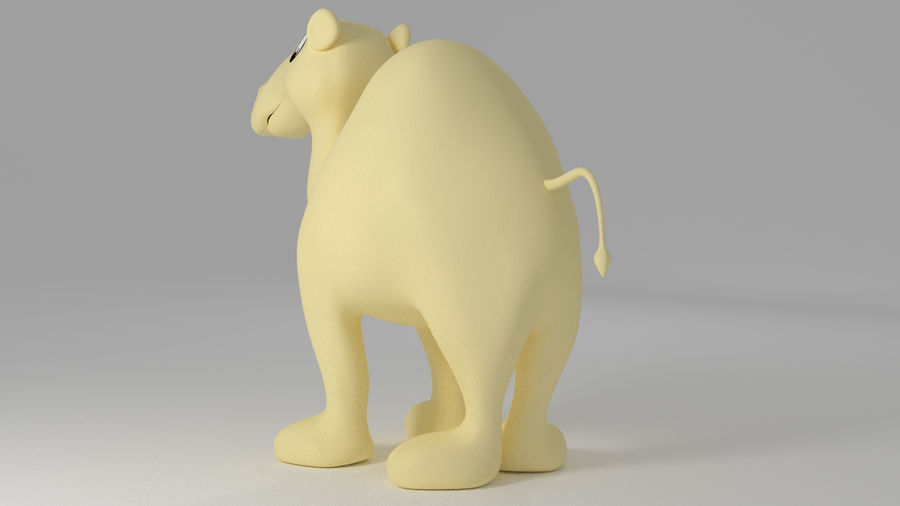 Camel_Cartoon royalty-free 3d model - Preview no. 4