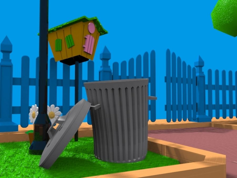 cartoon gate royalty-free 3d model - Preview no. 10