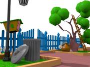 cartoon gate 3d model