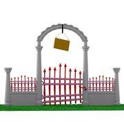 cartoon gate 2 3d model