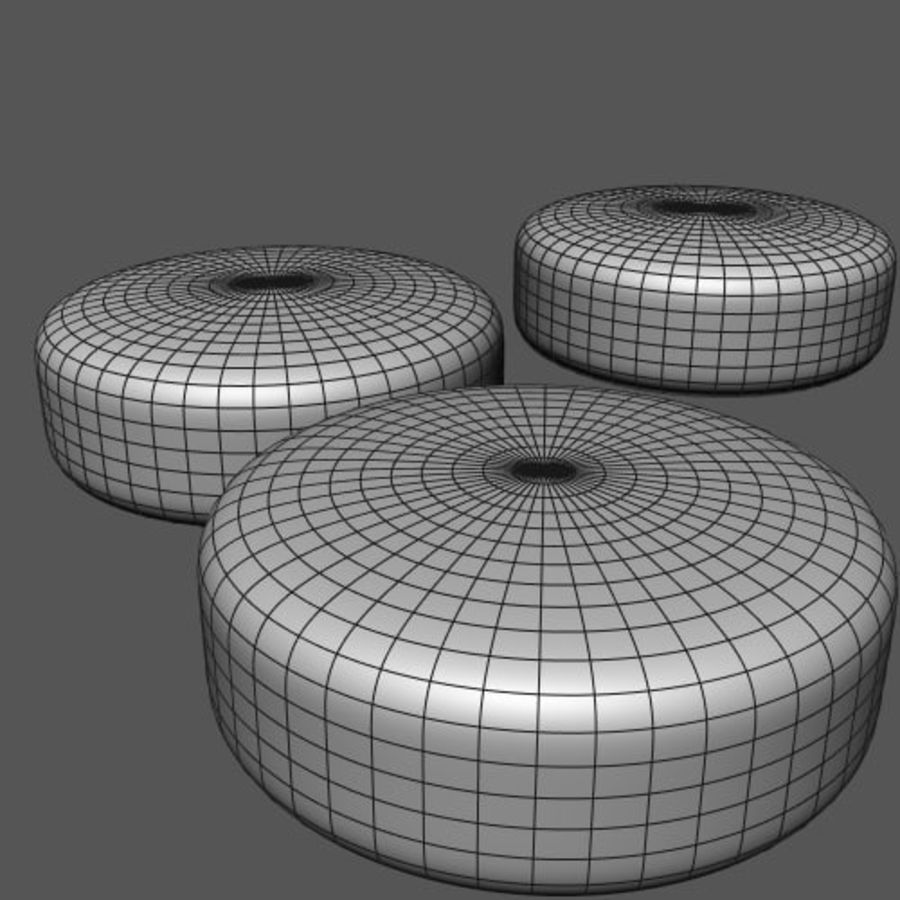 SKYLINE RATTAN POUF royalty-free 3d model - Preview no. 2