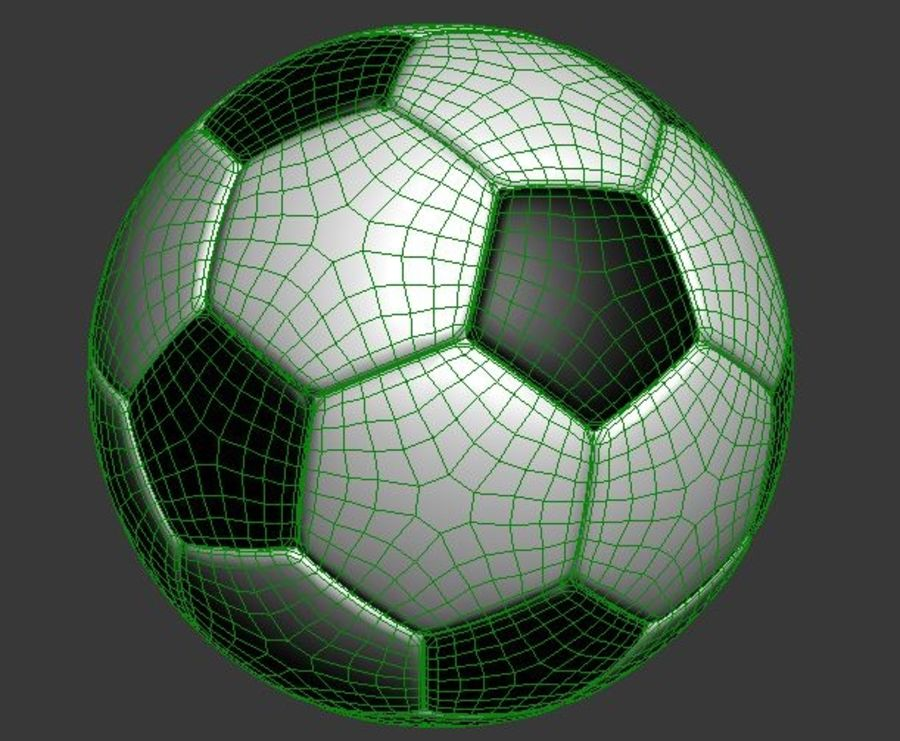 Soccer Ball royalty-free 3d model - Preview no. 2