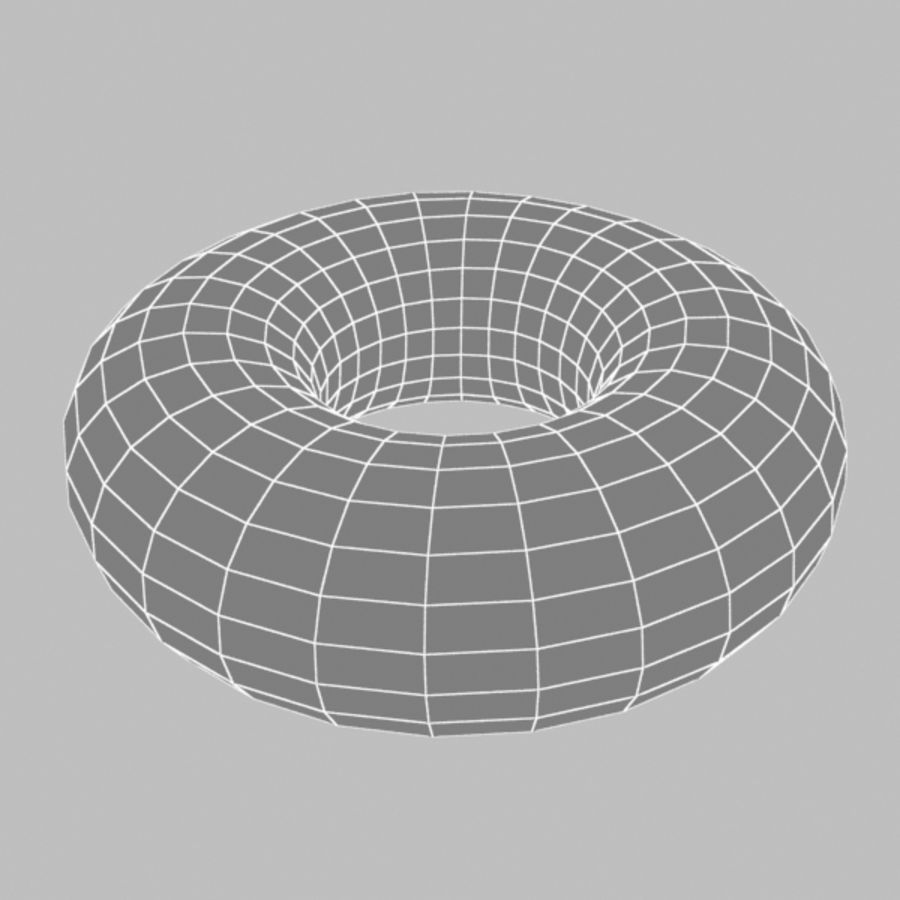 Donut04 royalty-free 3d model - Preview no. 3