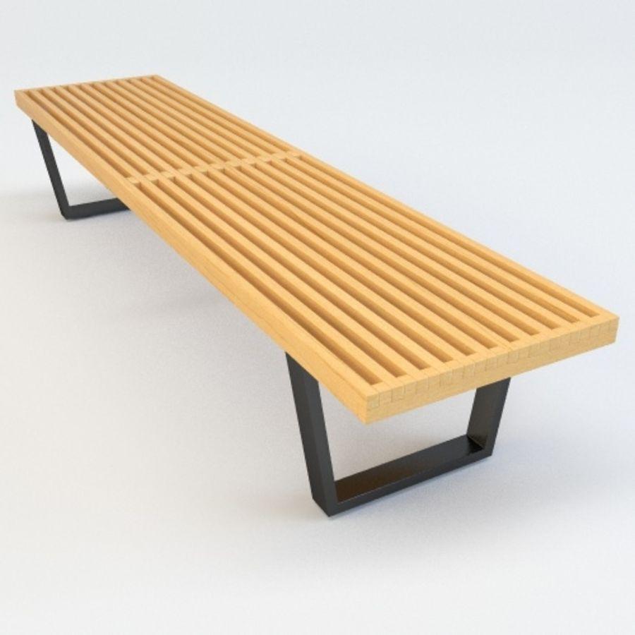 Sensational George Nelson Bench 3D Model 6 Obj Fbx C4D Free3D Theyellowbook Wood Chair Design Ideas Theyellowbookinfo