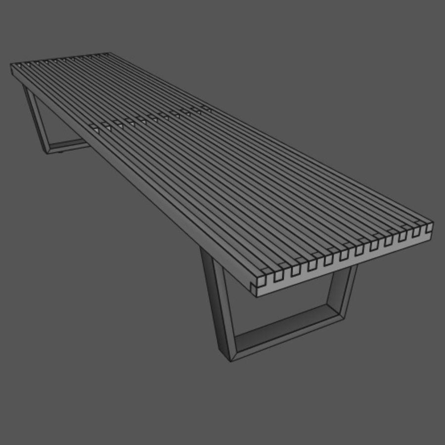 Fabulous George Nelson Bench 3D Model 6 Obj Fbx C4D Free3D Theyellowbook Wood Chair Design Ideas Theyellowbookinfo