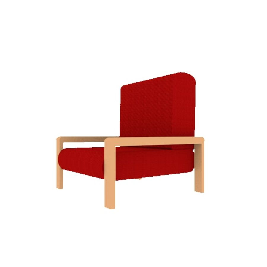Red Chair royalty-free 3d model - Preview no. 1