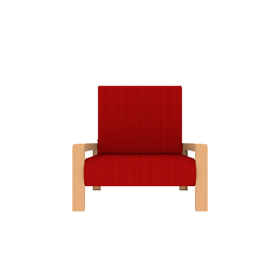 Red Chair royalty-free 3d model - Preview no. 5