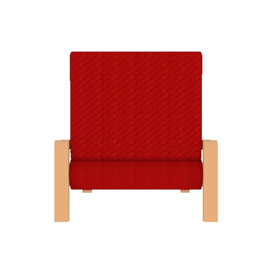 Red Chair royalty-free 3d model - Preview no. 2