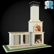 Garden Fireplace 001 3d model
