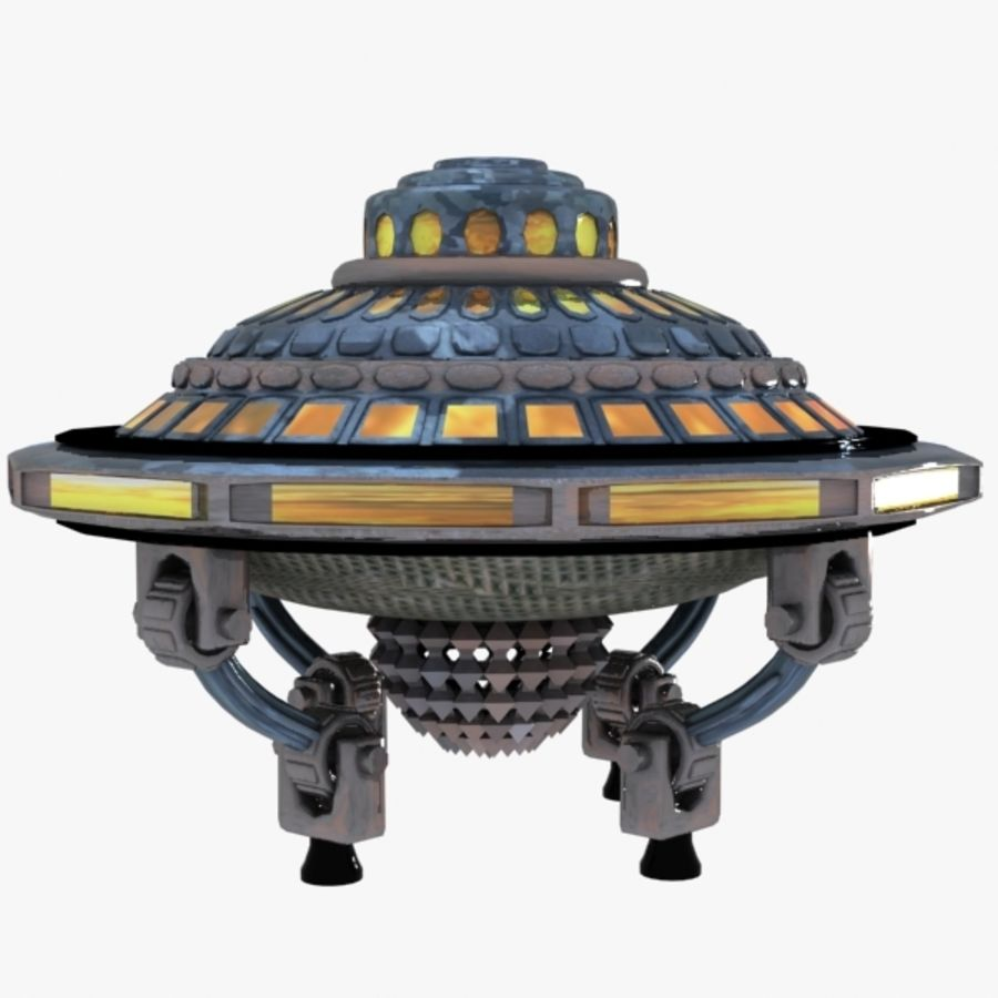 UFO royalty-free 3d model - Preview no. 5