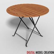 tavolo da bistrot 02 3d model