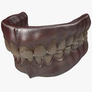 Stare ludzkie zęby 3d model