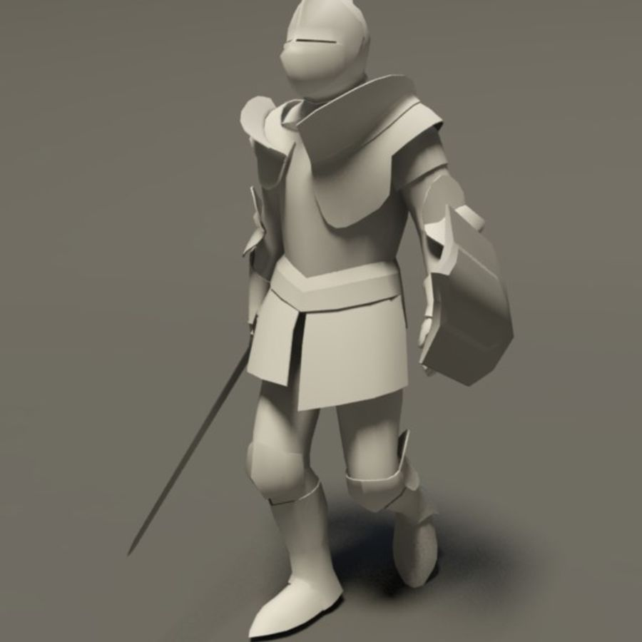 Chevalier médiéval (Rigged_CAT) royalty-free 3d model - Preview no. 2