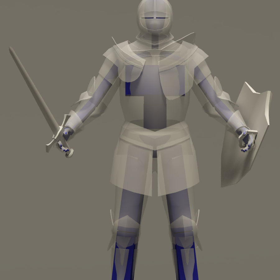 Chevalier médiéval (Rigged_CAT) royalty-free 3d model - Preview no. 5