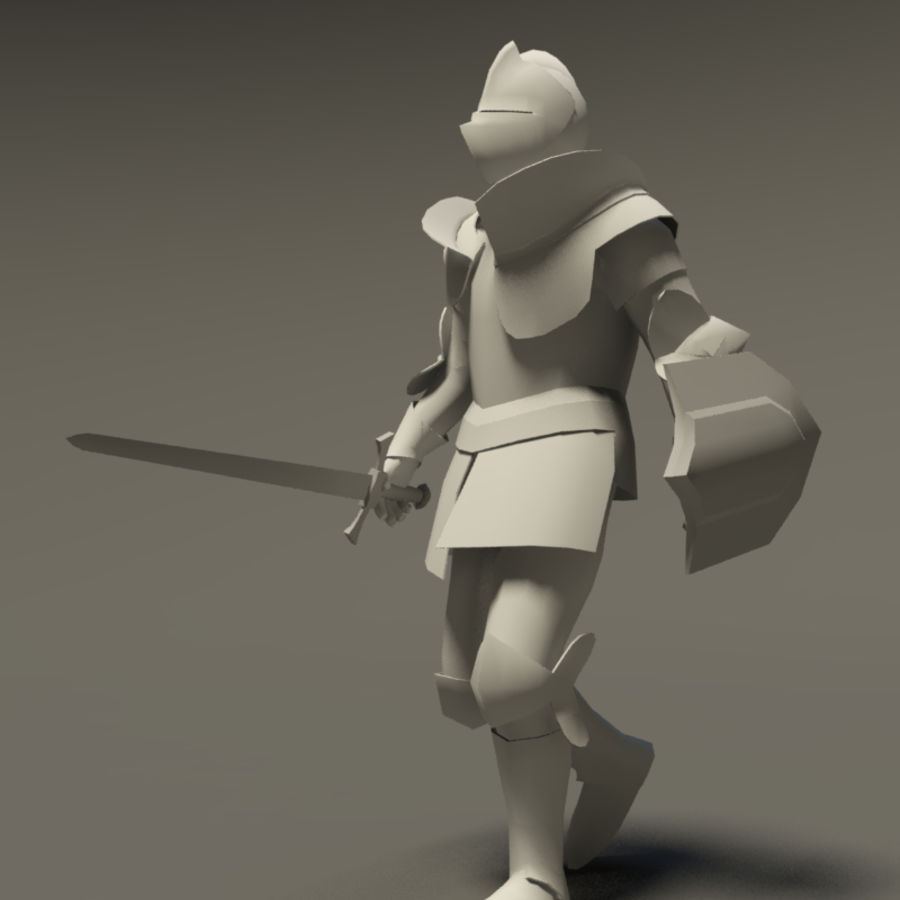 Chevalier médiéval (Rigged_CAT) royalty-free 3d model - Preview no. 3