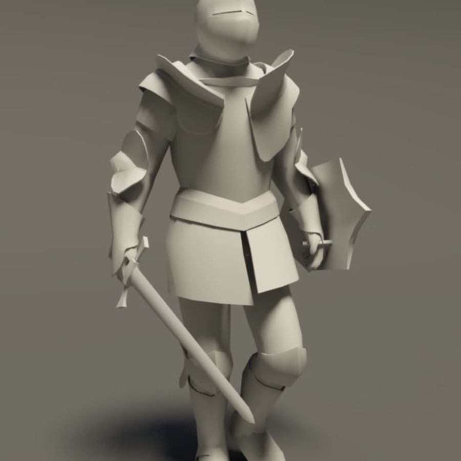 Chevalier médiéval (Rigged_CAT) royalty-free 3d model - Preview no. 1