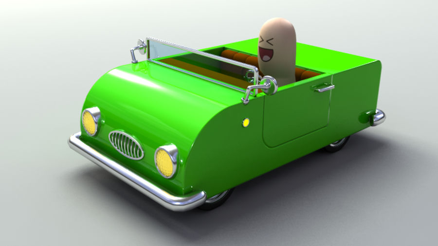 Rigged Toy vehicles royalty-free 3d model - Preview no. 12