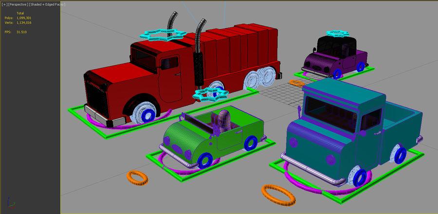 Veículos de brinquedo royalty-free 3d model - Preview no. 3