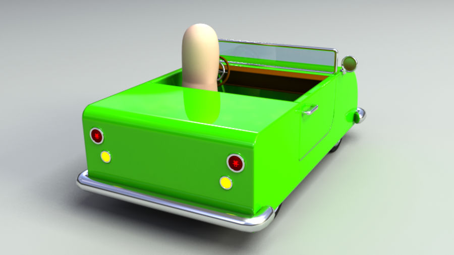 Rigged Toy vehicles royalty-free 3d model - Preview no. 10