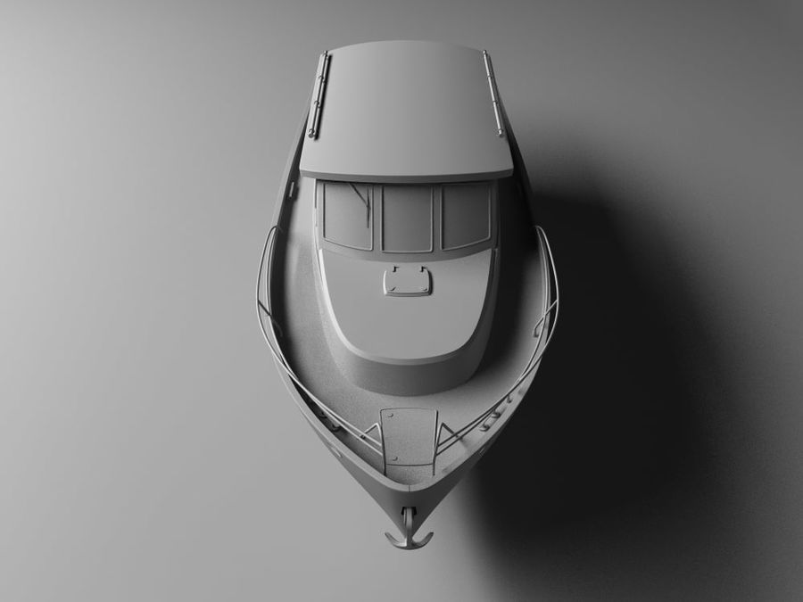 Motorboat royalty-free 3d model - Preview no. 4