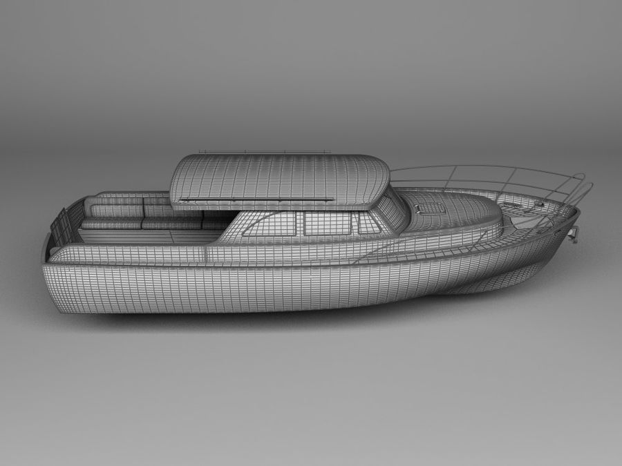 Motorboat royalty-free 3d model - Preview no. 3