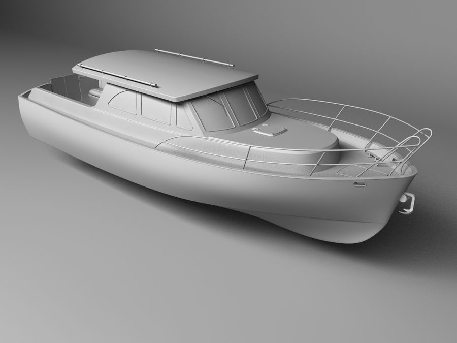 Motorboat royalty-free 3d model - Preview no. 1