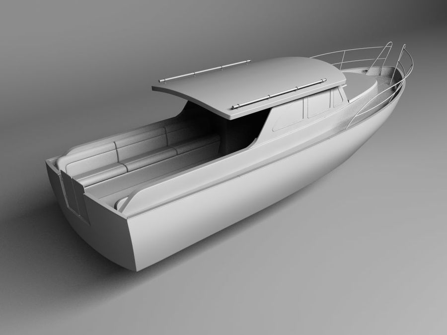 Motorboat royalty-free 3d model - Preview no. 2