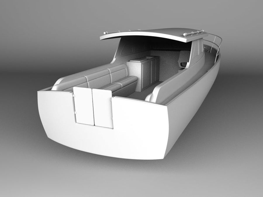 Motorboat royalty-free 3d model - Preview no. 5