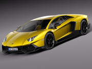 Lamborghini Aventador LP720-4 50th Anniversary 2013 3d model
