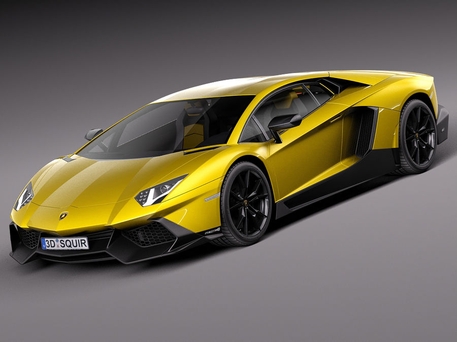 Lamborghini Aventador LP720-4 50-årsjubileum 2013 royalty-free 3d model - Preview no. 1