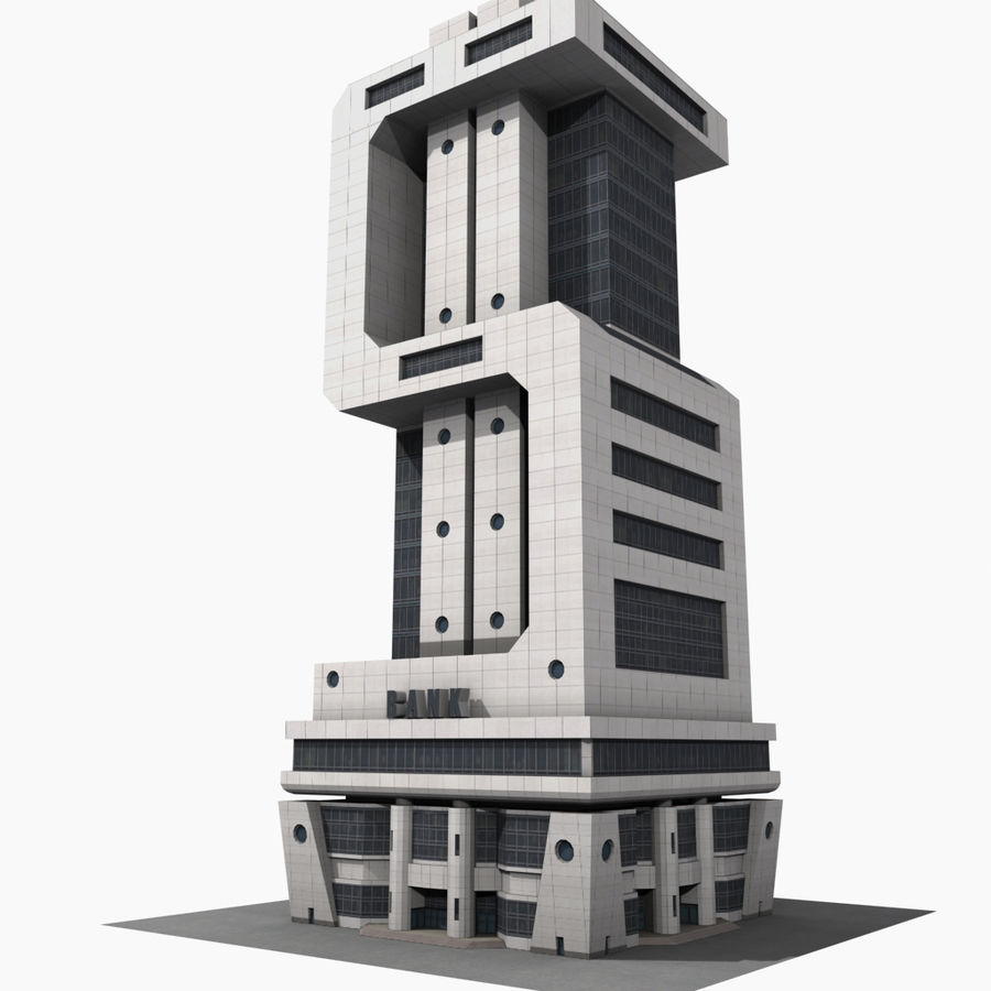 BanK $ royalty-free 3d model - Preview no. 6