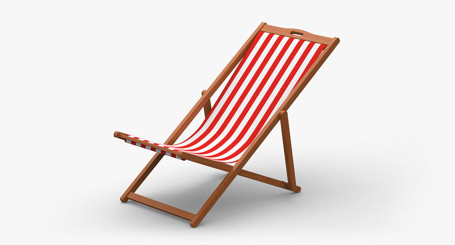 Beach Chair royalty-free 3d model - Preview no. 2