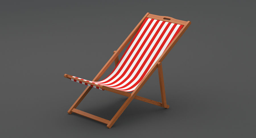 Beach Chair royalty-free 3d model - Preview no. 8