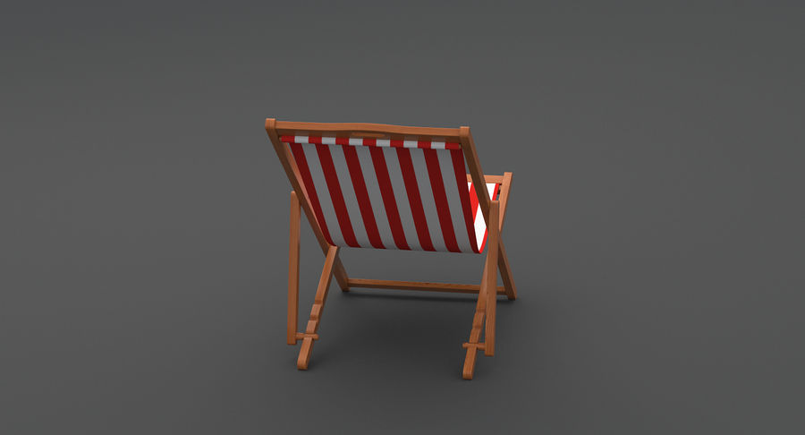 Beach Chair royalty-free 3d model - Preview no. 5