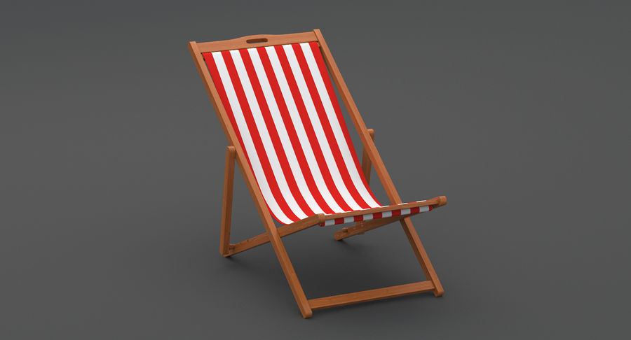 Beach Chair royalty-free 3d model - Preview no. 7