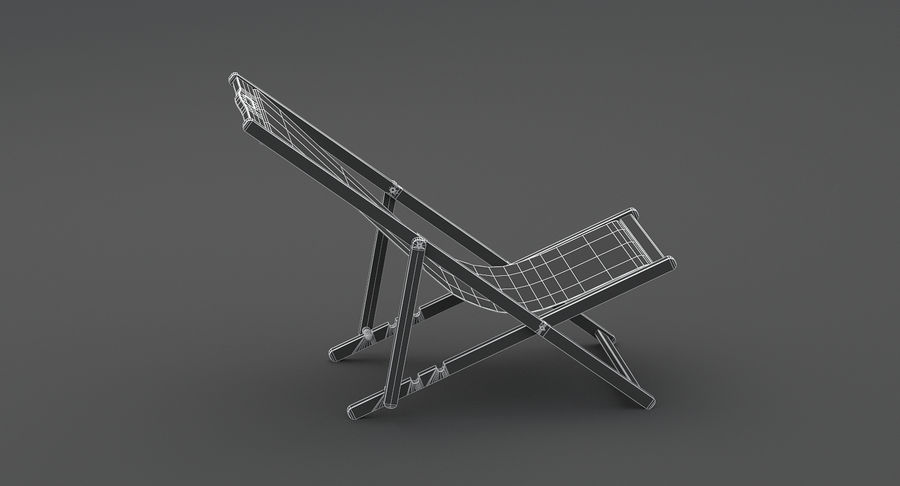 Beach Chair royalty-free 3d model - Preview no. 11