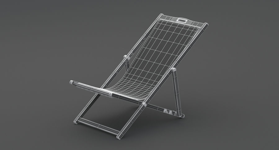 Beach Chair royalty-free 3d model - Preview no. 10