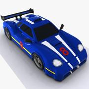 Cartoon Sports Car 2 3d model