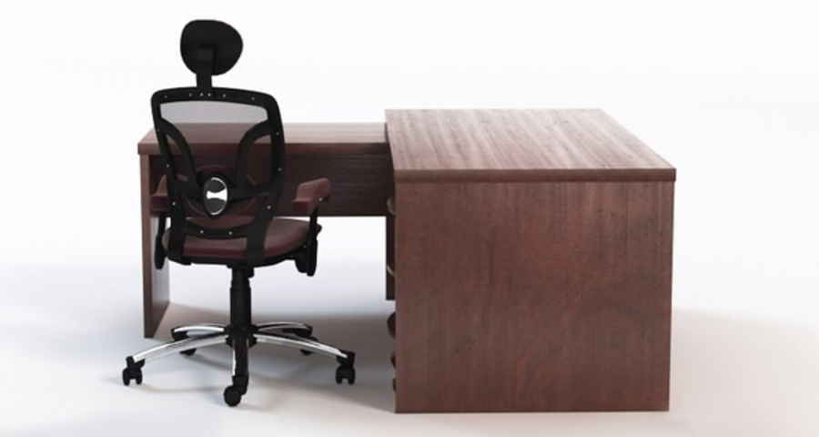 corner office table. corner office desk royalty-free 3d model - preview no. 2 corner office table