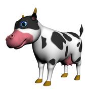 Cartoon cows 3d model