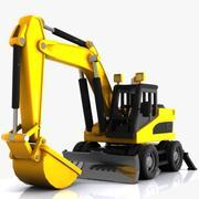 Cartoon Excavator 2 3d model