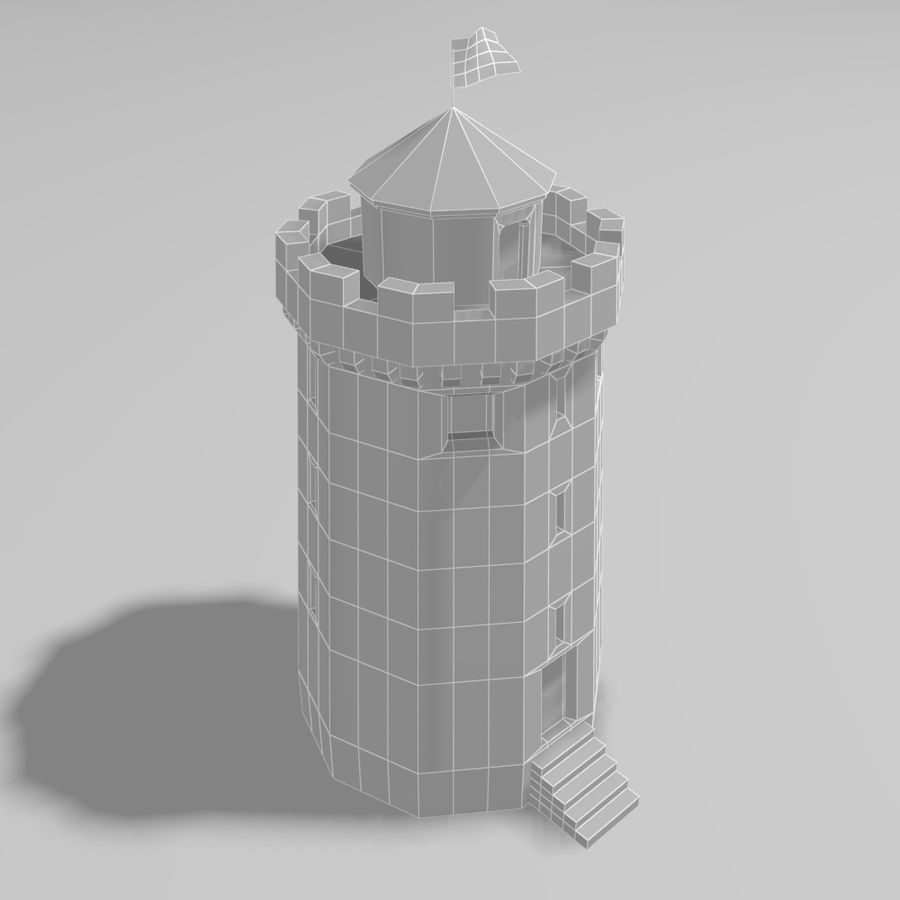 Castle Tower royalty-free 3d model - Preview no. 8