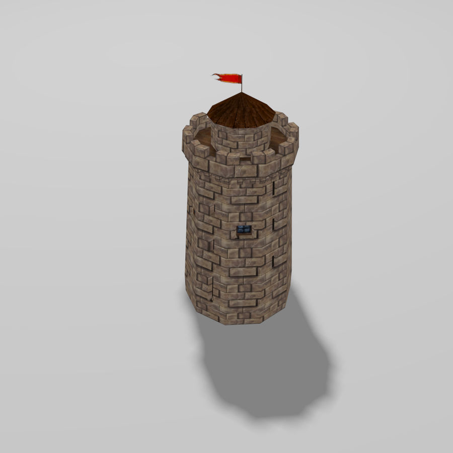 Castle Tower royalty-free 3d model - Preview no. 7