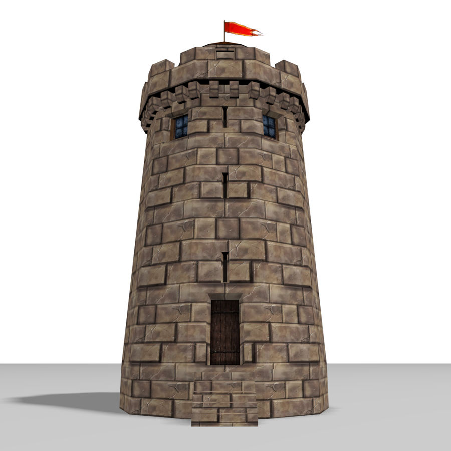 Castle Tower royalty-free 3d model - Preview no. 2