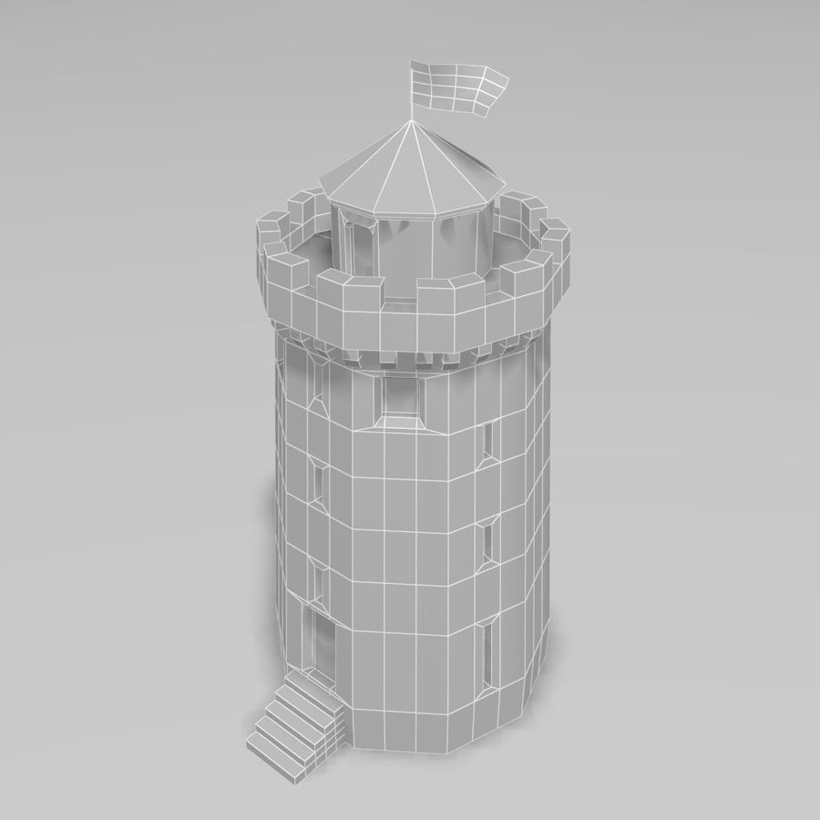Castle Tower royalty-free 3d model - Preview no. 9