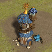 Wizard tower 3d model